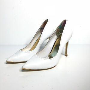 Ted Baker Sz Eu 40 White Dressy Heels Leather